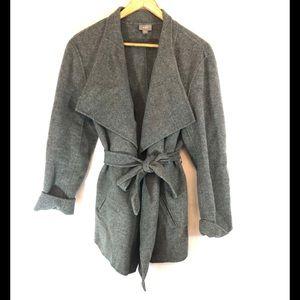 J. Jill Gray Wool/Angora Cardigan Sweater
